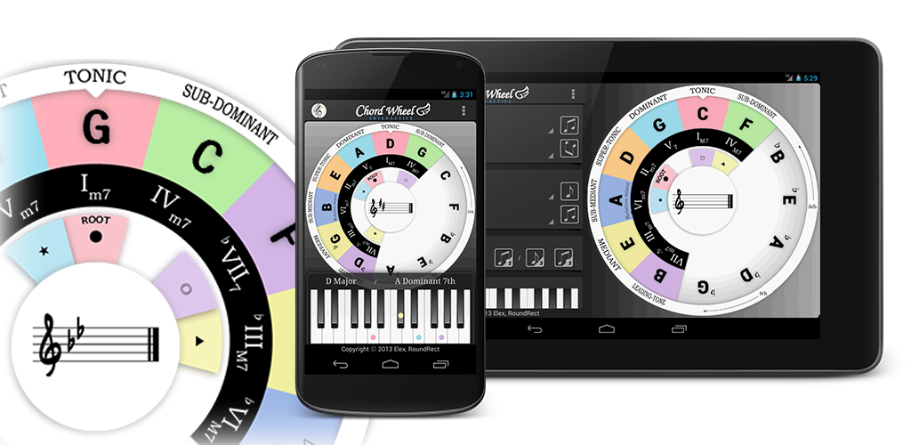 Chord Wheel : Circle of 5ths for Android