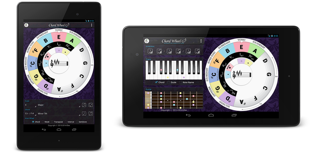 Chord Wheel on Nexus 7