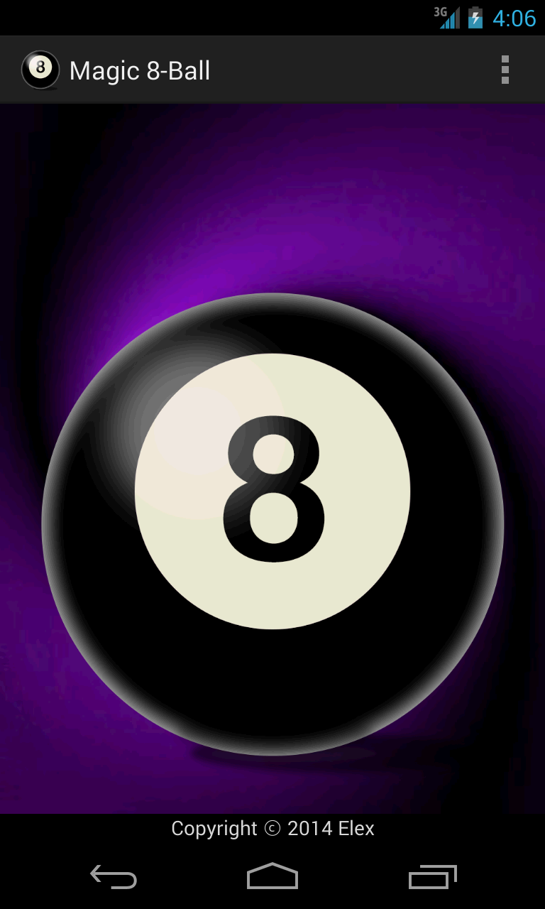 Screenshot of Elex's Magic 8-Ball