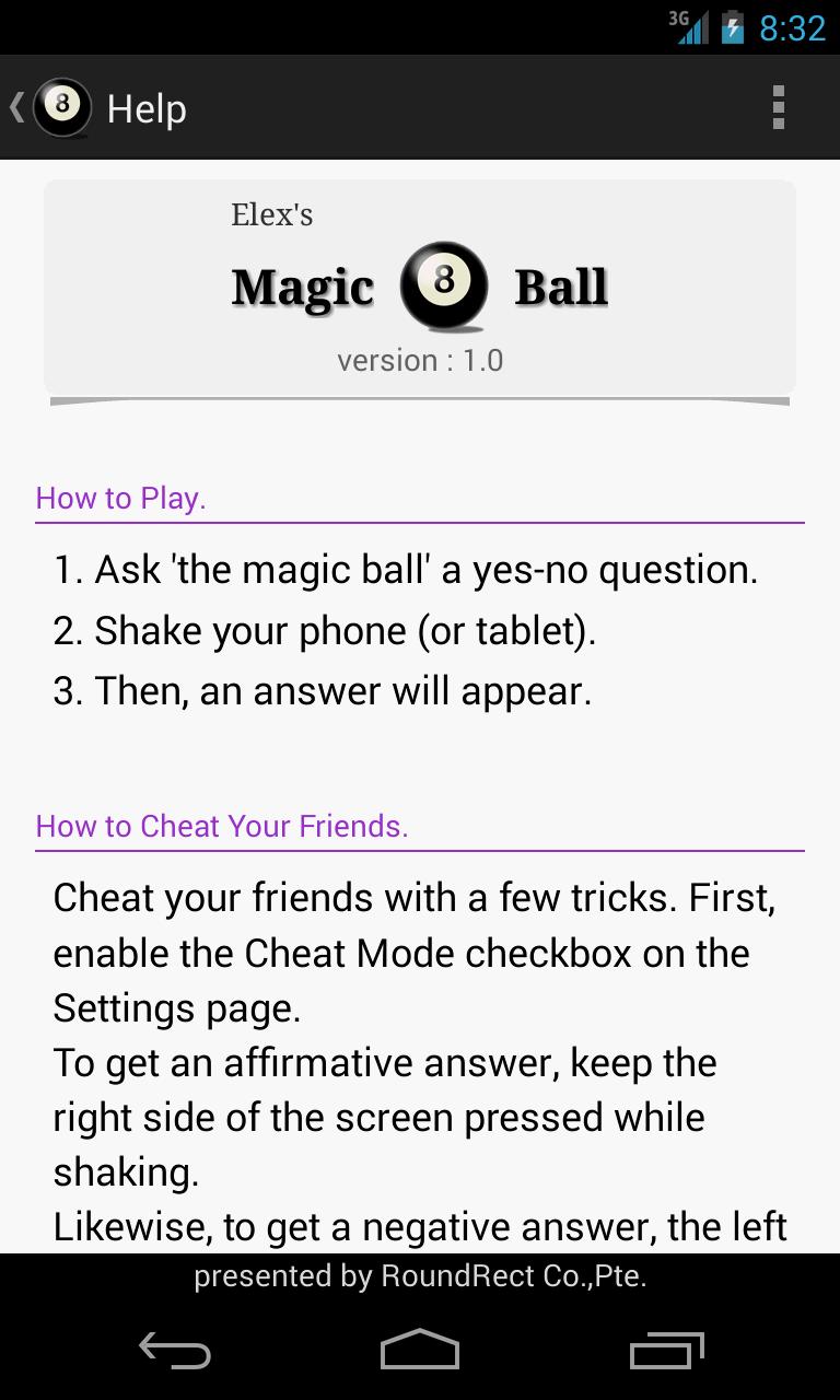 Screenshot of 마법의 8번 공