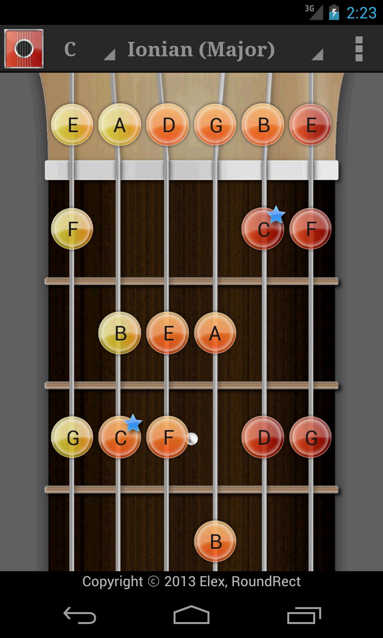 Screenshot of Guitar Chord