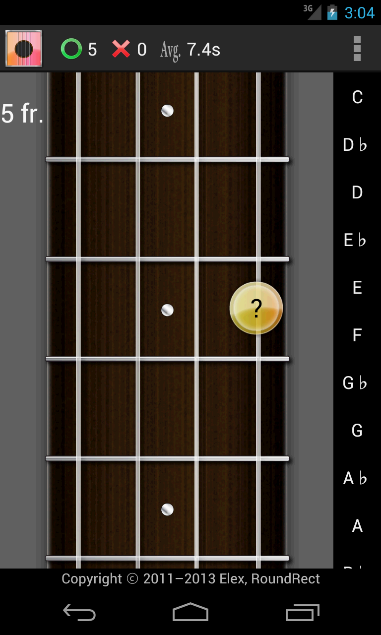 Screenshot of Ukulele Chord